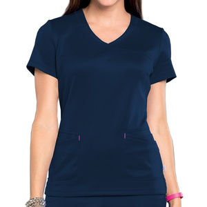 Smitten Tops - Smitten Women's Navy Riot Surplice Scrub Top